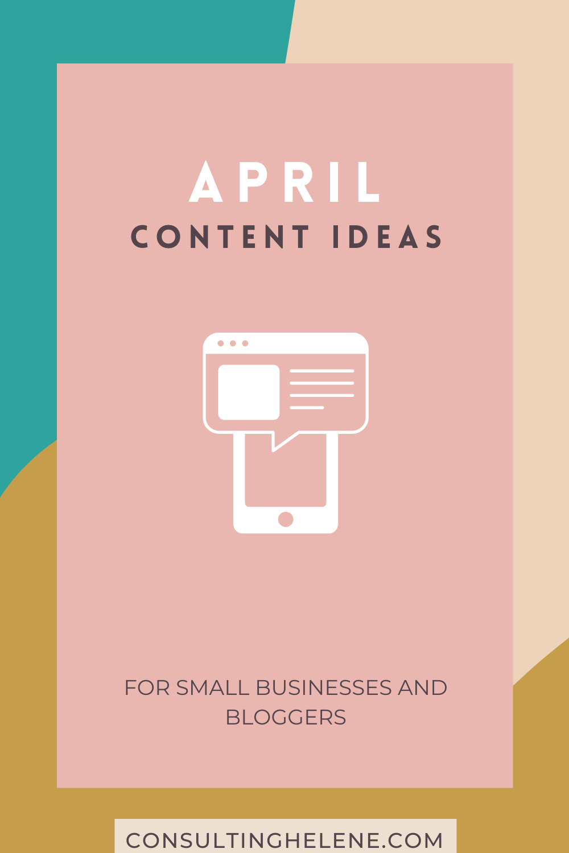 April Content Marketing